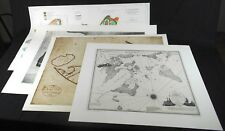 Lot of 4 Beautiful Maps: 3 Reproductions of Antiques & 1 Original