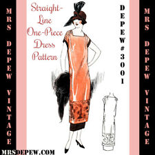 Vintage Sewing Pattern Instructions 1920s One Hour One Piece Dress Booklet #3001