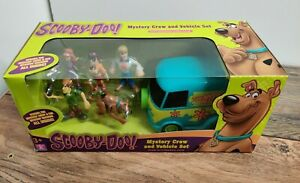 New Scooby Doo Mystery Solving Crew 5 Figure + Vehicle Play Set