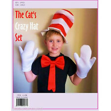 NEW KIDS CRAZY CAT IN THE HAT STYLE SET or HAT ALONE WORLD BOOK WEEK FANCY DRES