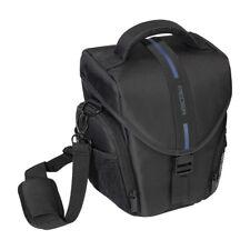 Kameratasche / Fototasche / SLR Tasche L mit Regenschutz und Zubehörfächer, blau