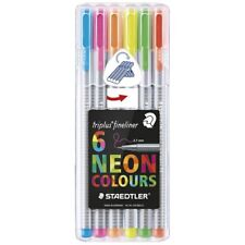 Staedtler Triplus Fineliner Neon Colours 0.3mm 6 Pack 334 SB6CLA