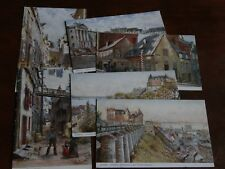 ORIGINAL SET OF SIX CHARLES FLOWER SIGNED TUCK POSTCARDS - QUEBEC, No. 2243.