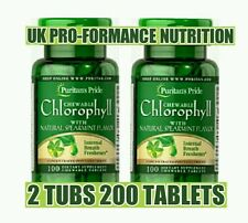 Chlorophyll & Natural Spearmint Flavour 2 Tubs x 100 Chewables (200 tablets).