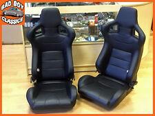 Paire BB6 inclinable basculant sièges baquets noir + universel dual lock coureurs