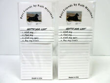 Flat Coated Retriever Magnetic Refrigerator List Pad Set of 2 Pads By Ruth Rfc-1