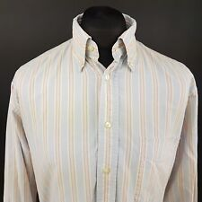 GANT Mens Oxford Shirt THICK LARGE Long Sleeve Blue Regular Fit Striped Cotton