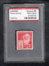 US @ 890 (1940) 2c - PSE Graded: Sup98 - Mint OGnh (Encapsulated) Morse