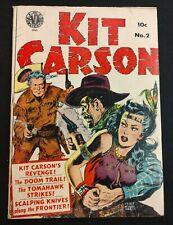 KIT CARSON AVON #2 1950 SOLID G/VG  GREAT KINSTLER HEADLIGHTS COVER!!