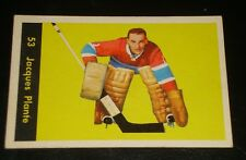 JACQUES PLANTE 1960 Parkhurst #53, Montreal Canadiens, Hockey Card, HALL OF FAME