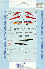 1/72 SuperScale Decals Marine USAFE F-16C Falcon CO AC 526 TFS 86 TFW 72-576