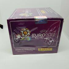 euro 2012 panini full box 50packs(250 stickers) mint USA VERSION