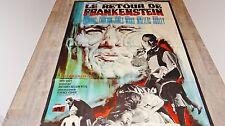 LE RETOUR DE FRANKENSTEIN ! peter cushing affiche cinema hammer film 1969