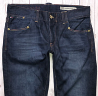 Mens TOMMY HILFIGER Rogar Jeans W36 L32 Blue Regular Bootcut Fit