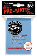 60 ULTRA PRO SMALL PRO-MATTE LIGHT BLUE DECK PROTECTORS SLEEVES Yugioh Matte