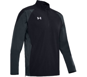 Under Armour Mens Squad Long Sleeve Coach'S 1/4 Zip Pullover BLACK MD