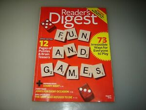 2 Reader's Digest magazines July 2013 and August 2013