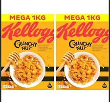 Kellogg's Crunchy Nut, 2 x 1kg Cornflakes Cereal Natural Grains Vitamin D B6 B12