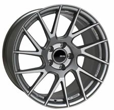 17x8 Enkei Rims TM7 5x114.3 +35 Storm Gray Rims Fits Veloster Mazda Speed 3