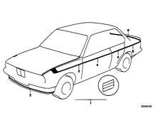 BMW E28 E12 M5 M 535 Technic Stripe decal sticker kit M Stripe Mtech Motorsport