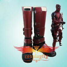 2016 Fiml X-Men Deadpool Overall Battleframe Boots Cosplay Shoes Custom Size
