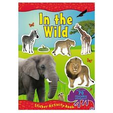 In The Wild A4 Sticker Book Over 70 Reusable Stickers Kids Educational Animals
