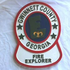 Gwinnett Fire Explorer 3D routed carved  wood patch plaque sign New