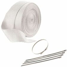 "2"" x 50' (51mm x 15 Metres) White Exhaust Heat Wrap - Cafe Racer/Chopper/Bobber"