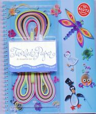 Twirled Paper Quilling Book by KLUTZ + Patterns + Tool + Paper + Glue  HC New