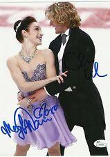 USA MERYL DAVIS & CHARLIE WHITE Dual Signed 8x10  2014 Gold Medal Winners JSA