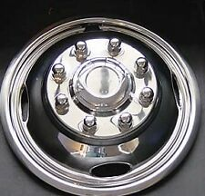 "FORD F350 17"" 8 LUG SET OF (2) POLISHED STAINLESS STEEL WHEEL SIMULATOR COVERS"