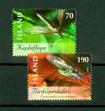 Insects set of two stamps mnh Iceland 2007