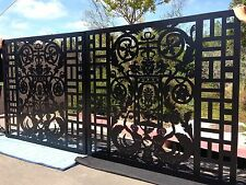 Driveway Gate Metal Art Italian Custom Entry Garden Iron Steel Made in USA 12 Ft