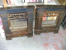 Pair cast iron fire decorative surrounds feature pieces - sold individually