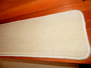 15  Step  9'' x 30''  Tufted carpet Wool Woven Stair Treads.