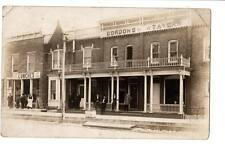 RPPC Hotel Cass City,Mi,Gordon's Tavern Lunches pool cigars tobacco advertising#