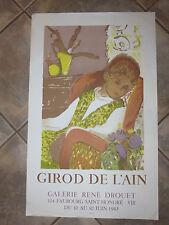Litho : Affiche exposition du peintre GIROD DE L'AIN, époque 20ème siècle.