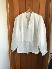 susan graver white lightweight summer jacket 3xl bnwt cotton cinch back pleat