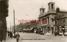 REAL PHOTOGRAPHIC POSTCARD STOCKTON STREET WEST HARTLEPOOL, COUNTY DURHAM, LOVES
