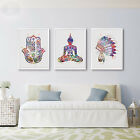 Watercolor Buddhism Canvas Poster Art Painting Modern Home Wall Decor