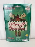 Janlynn Christmas Merry Christmoose Danglers Counted Cross Stitch Kit Moose