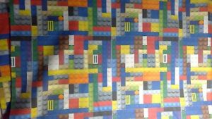 "Lego Theme Cotton Fabric - 2/3 yard - 42"" wide"