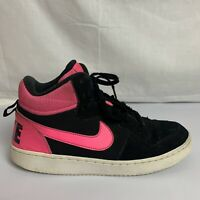 Nike Court Borough Mid Pink & Black Sneakers 845107-006 Size 7Y