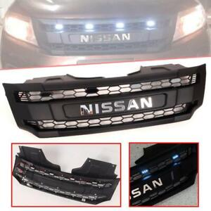 Grill Grille Black White LED Chrome Logo Fit Nissan Navara Frontier NP300 14-18