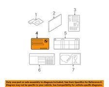 BMW OEM 01-06 325Ci Labels-Information or Warning Sticker 01399791197