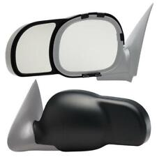 Fit System 88034 Ford//Lincoln Left Side Manual//Power Replacement Mirror Glass with Backing Plate