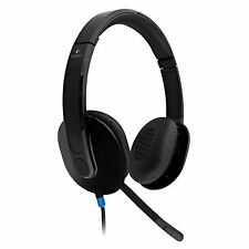 Logitech H540 Corded USB Stereo Headset with Adjustable Boom Mic for PC