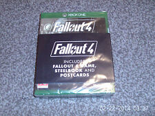 FALLOUT 4 STEELBOOK EDITION XBOX ONE INC GAME & POSTCARDS & STEELBOOK new&sealed