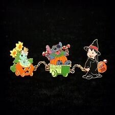 DLP LE Pumpkin Stitch Witch Lilo Scrump Halloween Train Wagon DLRP Disney Pin