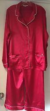 Victoria's Secret rouge avec bordure blanche Satin Pyjama Nightwear Grand Set